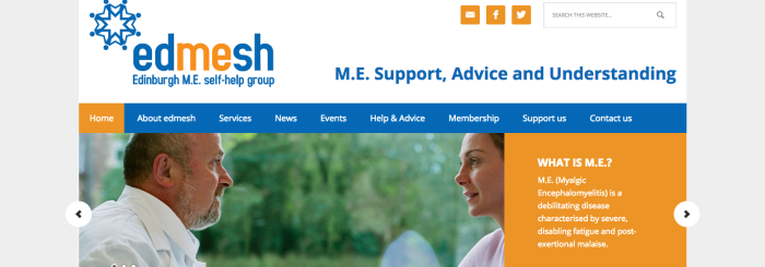 Front page of the edmesh website